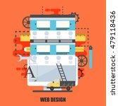 flat concept of web design...