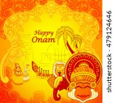 vector design of happy onam... | Shutterstock .eps vector #479124646