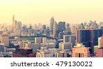 Skyline Of Big City Full Of...