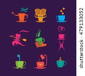 coffe and tea cup color icon... | Shutterstock .eps vector #479133052
