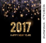 happy new year 2017 card  gold... | Shutterstock .eps vector #479138236