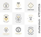 vector hipster style logos ...