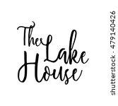the lake house   vector... | Shutterstock .eps vector #479140426
