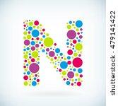 modern letter n circle stroke... | Shutterstock .eps vector #479141422