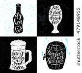 set of 4 hand lettering phrases ... | Shutterstock .eps vector #479148922