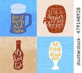set of 4 hand lettering phrases ... | Shutterstock .eps vector #479148928