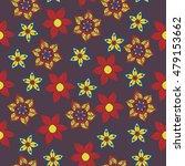 seamless vector floral pattern. ...   Shutterstock .eps vector #479153662