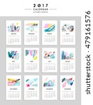 creative calendar 2017.... | Shutterstock .eps vector #479161576