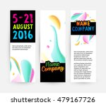 abstract liquid bubbles shapes... | Shutterstock .eps vector #479167726