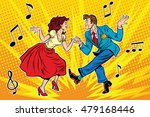 couple man and woman dancing ... | Shutterstock .eps vector #479168446