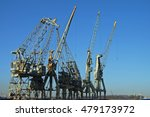 Old Cranes In The Port Of...