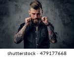 portrait of bearded hipster... | Shutterstock . vector #479177668