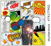 mock up of a typical comic book ... | Shutterstock .eps vector #479177902