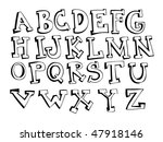 hand drawn alphabet  eps10  | Shutterstock .eps vector #47918146