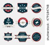 set of business labels and... | Shutterstock .eps vector #479184748