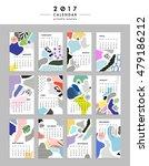 creative calendar 2017.... | Shutterstock .eps vector #479186212