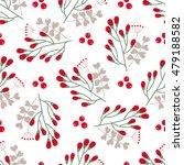 christmas floral seamless...   Shutterstock .eps vector #479188582