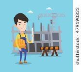 young friendly engineer with a... | Shutterstock .eps vector #479190322