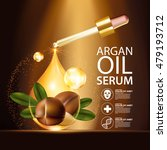 argan oil serum and background... | Shutterstock .eps vector #479193712