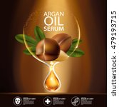 argan oil serum and background... | Shutterstock .eps vector #479193715