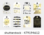 collection of autumn sale and... | Shutterstock .eps vector #479194612