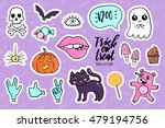 halloween fashion quirky... | Shutterstock .eps vector #479194756