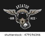 fighter pilot helmet. emblem  t ...   Shutterstock .eps vector #479196346