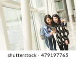 asian woman with her friend... | Shutterstock . vector #479197765