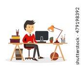 people work in office design... | Shutterstock .eps vector #479198392