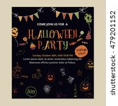 halloween party invitation card ... | Shutterstock .eps vector #479201152