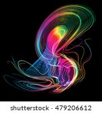 moving colorful lines of... | Shutterstock .eps vector #479206612