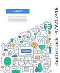 charity   vector line design... | Shutterstock .eps vector #479217418