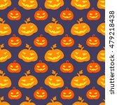 halloween pumpkin seamless... | Shutterstock .eps vector #479218438
