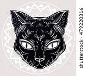 black cat head portrait. ideal... | Shutterstock .eps vector #479220316