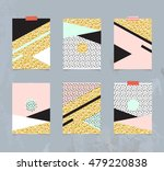 set of abstract geometric... | Shutterstock .eps vector #479220838