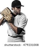 Pitcher Baseball Player With A...