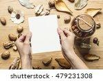 hands holding vertical card... | Shutterstock . vector #479231308