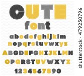cute colorful childish font  ... | Shutterstock .eps vector #479250796