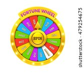 Stock vector gold fortune wheel illustration eps vector 479254675