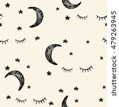 seamless night pattern with... | Shutterstock .eps vector #479263945