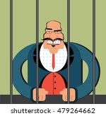 angry boss in prison.corruption ... | Shutterstock .eps vector #479264662