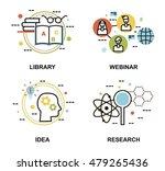 modern flat thin line design... | Shutterstock .eps vector #479265436