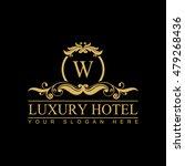 luxury logo template in vector...   Shutterstock .eps vector #479268436