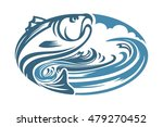 fish and water elips abstract   Shutterstock .eps vector #479270452