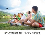 young people takeing sefie and... | Shutterstock . vector #479275495