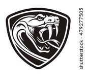 rattler head in the shield | Shutterstock .eps vector #479277505