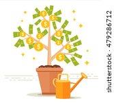 money tree vector illustration. ...   Shutterstock .eps vector #479286712