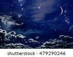 night sky with stars and full... | Shutterstock . vector #479290246