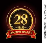 28th golden anniversary logo... | Shutterstock .eps vector #479292262