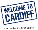 welcome to cardiff | Shutterstock .eps vector #479298172